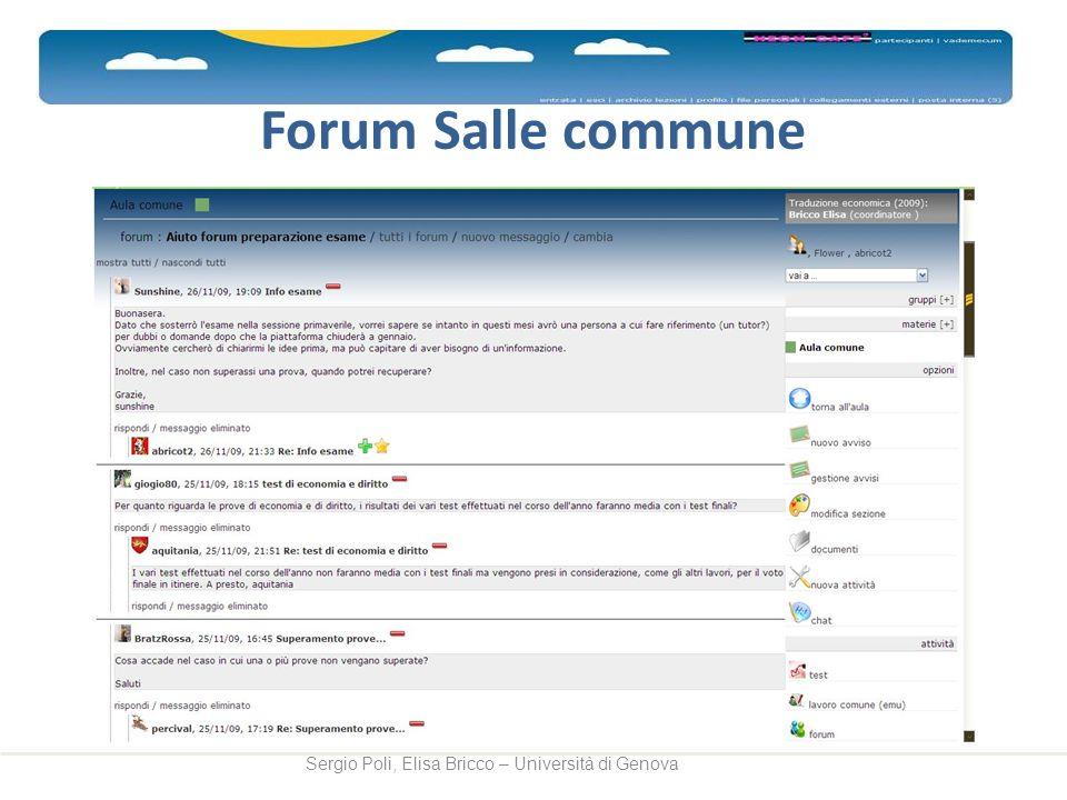 Forum Salle commune Sergio Poli, Elisa Bricco – Università di Genova