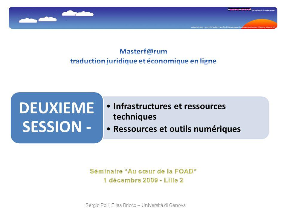 Infrastructures et ressources techniques Ressources et outils numériques DEUXIEME SESSION -