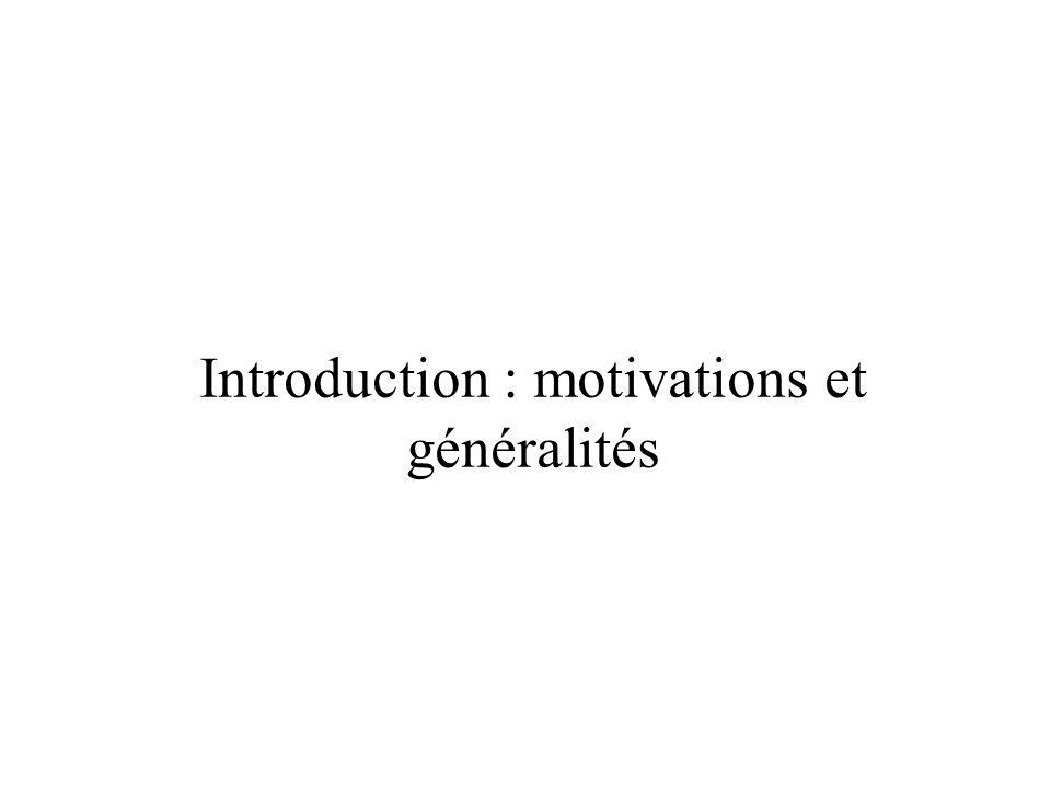 Introduction : motivations et généralités