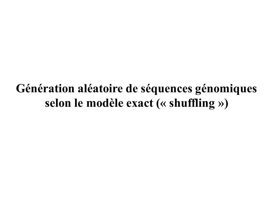 Génération aléatoire de séquences génomiques selon le modèle exact (« shuffling »)