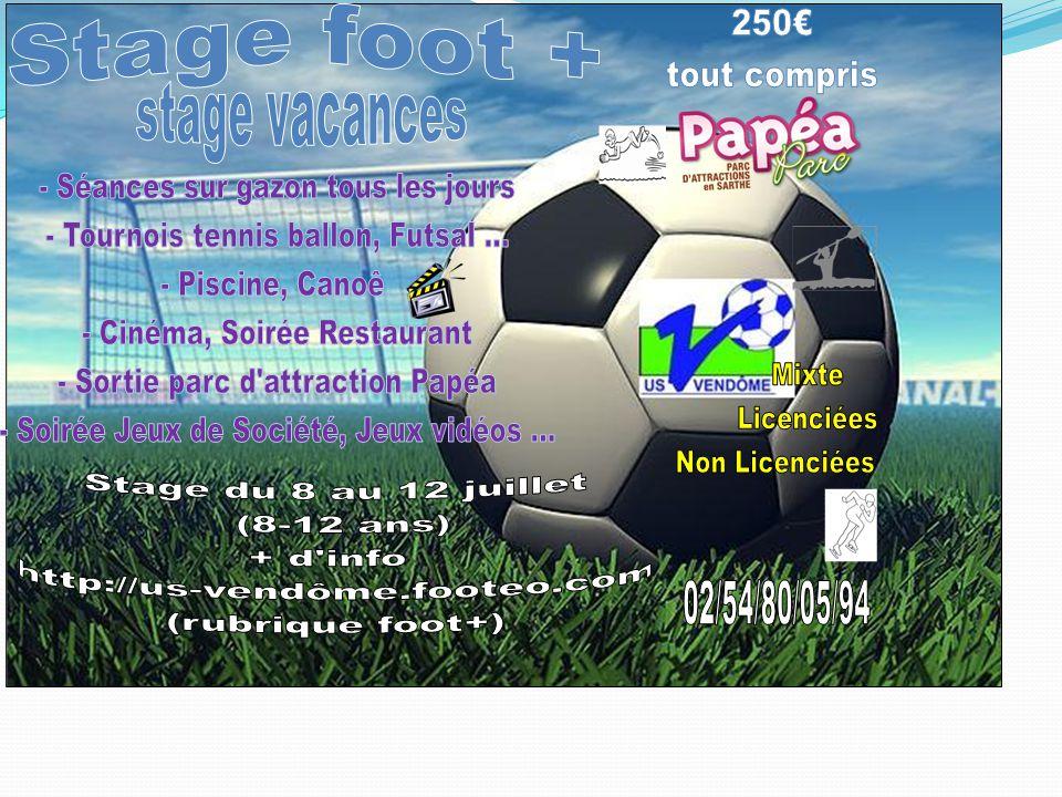 8h - 9h4510h – 11h11 – 12h12h - 14h 14h – 15h15 – 16 h16h – 17h17h – 18 h18h – 19h19h – 21h21h – 22h22h-23h LUNdiLUNdi Accueil Football (séance sur gazon) Goûter/ +Temps libre Tournoi futsal Mise en place des règles de vie Coucher Temps libre Coucher MARDIMARDI Football (séance sur gazon) Atout sport Jorkyball futsal Atout sport Jorkyball futsal Goûter/ +Temps libre Tournoi Tennis Ballon Soirée Jeux de Société Coucher M e r C R Ed i Football (séance sur gazon) Piscine Goûter/ +Temps libre Canoë CinémaCoucher JEUdiJEUdi Sortie Papéa Le Mans Sortie Papéa Le Mans Sortie Papéa Le Mans Sortie Papéa Le Mans Sortie Papéa Le Mans Sortie Papéa Le Mans Restaurant Coucher Temps libre Coucher VENdREdiVENdREdi Football (séance sur gazon) Fin du stage