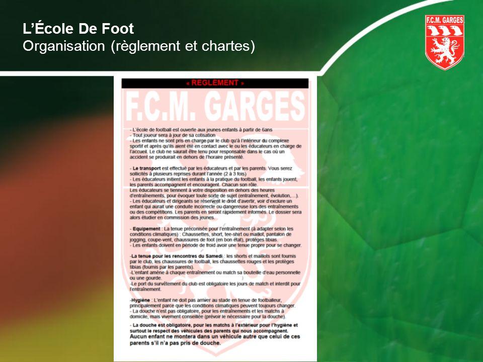 LÉcole De Foot Organisation (règlement et chartes)
