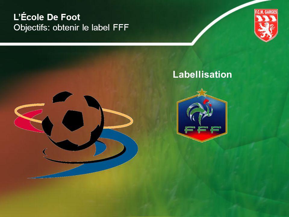 Labellisation LÉcole De Foot Objectifs: obtenir le label FFF