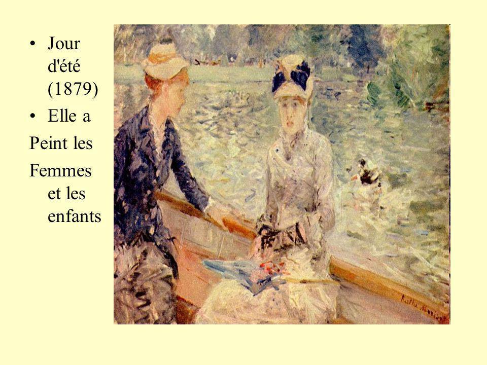 Jour d'été (1879) Elle a Peint les Femmes et les enfants