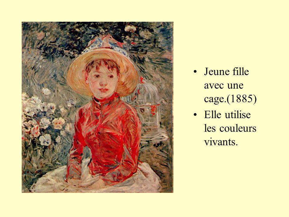 Jeune fille avec une cage.(1885) Elle utilise les couleurs vivants.