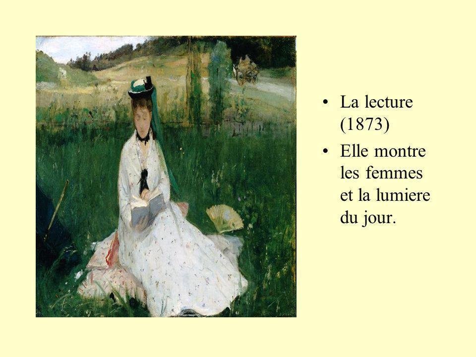 La lecture (1873) Elle montre les femmes et la lumiere du jour.