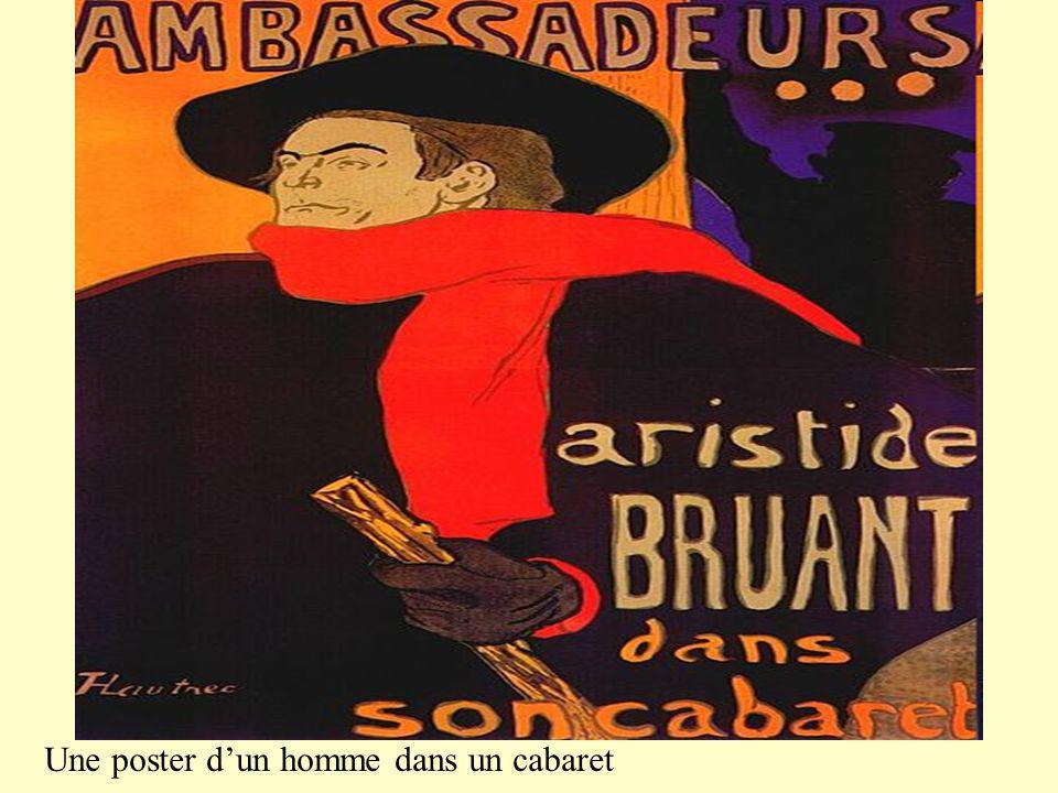 Auto- portrait de Lautrec au MOULIN ROUGE