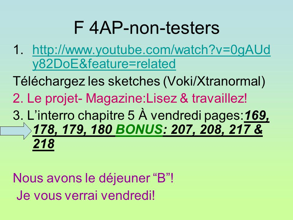 F 4AP-non-testers 1.http://www.youtube.com/watch?v=0gAUd y82DoE&feature=relatedhttp://www.youtube.com/watch?v=0gAUd y82DoE&feature=related Téléchargez