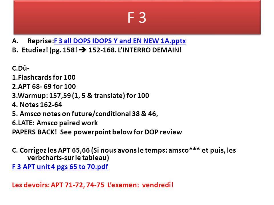 F 3 Amsco work KEY: Ex.A-1. H, 2. E, 3. G, 4. N, 5.