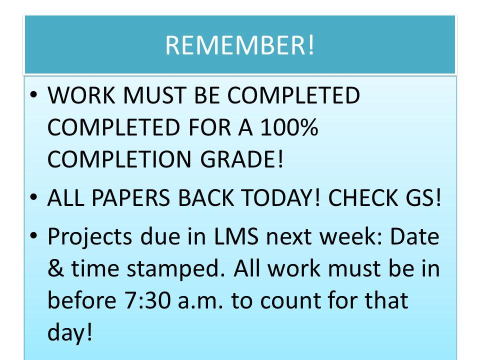 F 3 **Les projets Ma routine quotidienne dans LMS?(PAS DE POINTS EXTRA)-mardi, le 22 octobre.