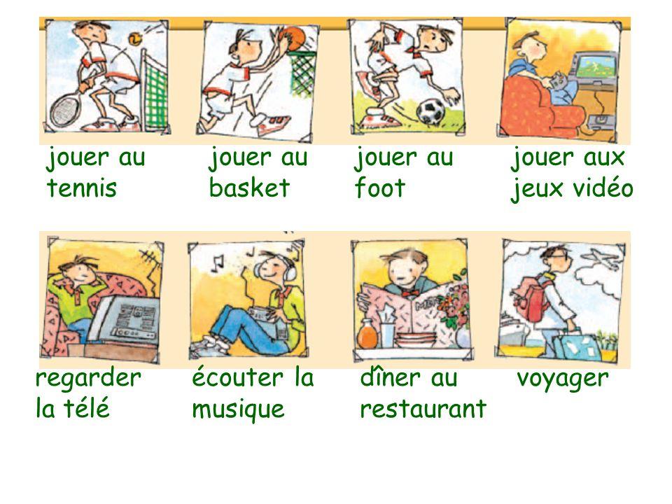 manger parler français parler anglais parler espagnol téléphoner chanterdansernager