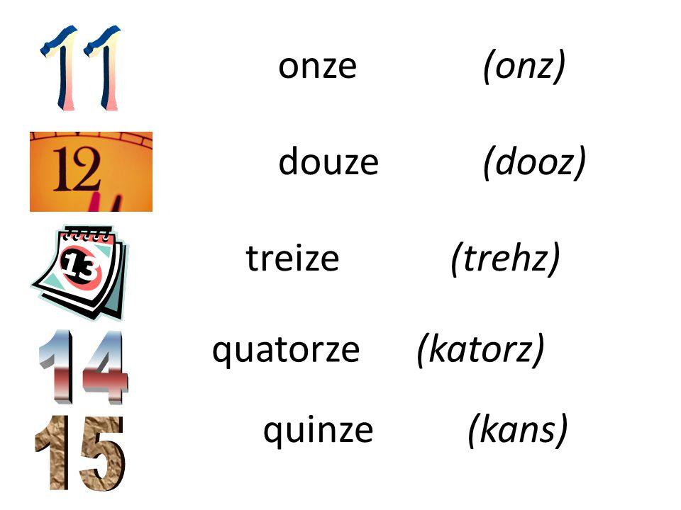 six(sease) sept(set) huit (weet) neuf (nef) dix(dease)