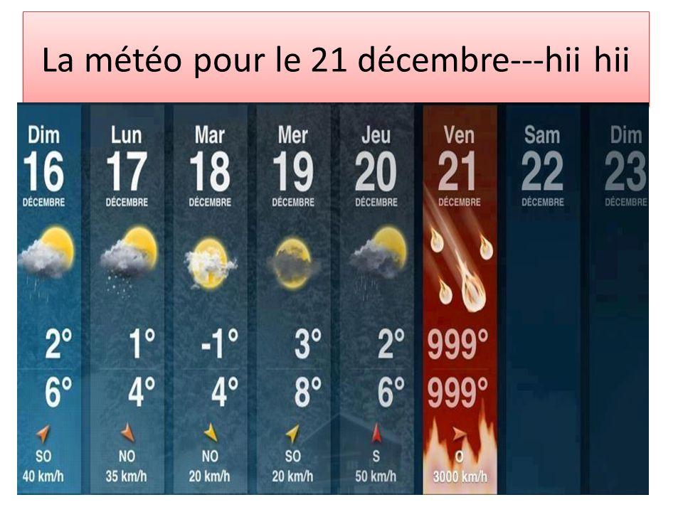 La météo pour le 21 décembre---hii hii