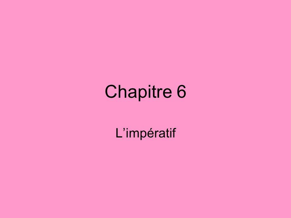 Chapitre 6 Limpératif