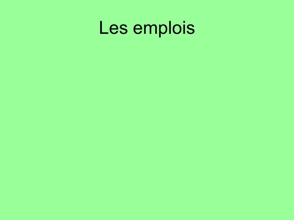 Les emplois