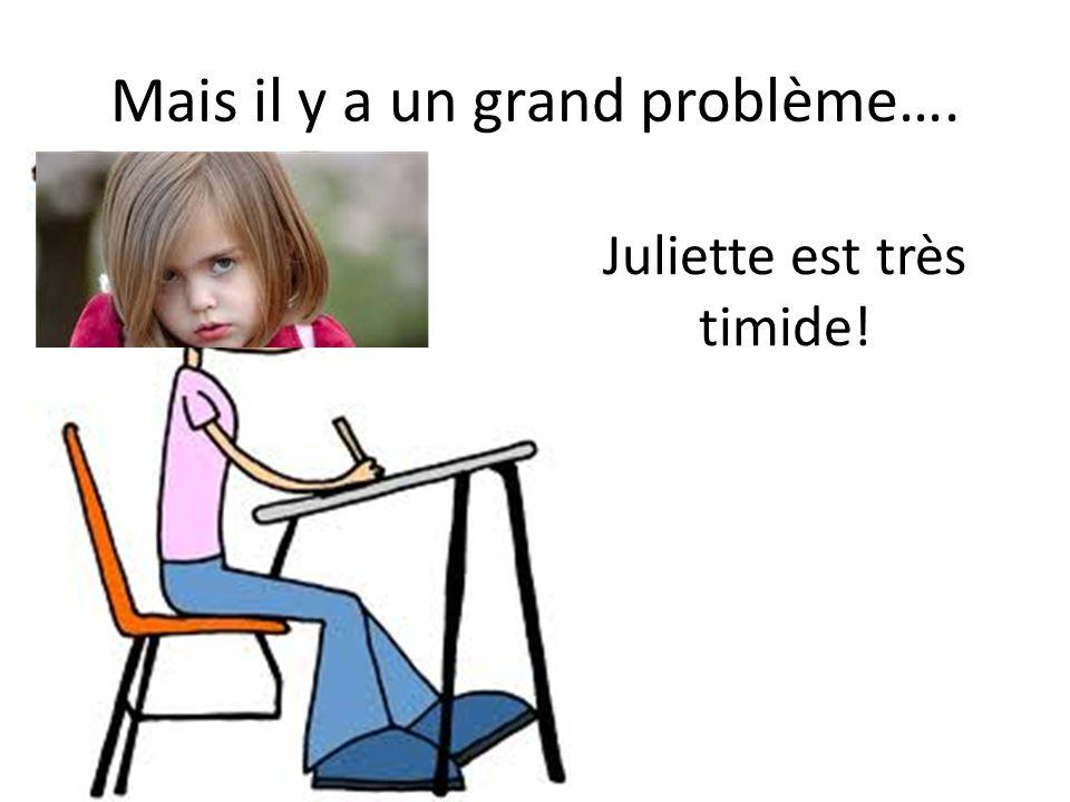 Mais il y a un grand problème…. Juliette est très timide!