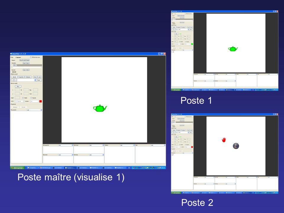 Poste maître (visualise 1) Poste 2 Poste 1