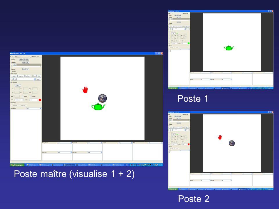 Poste 2 Poste 1 Poste maître (visualise 1 + 2)