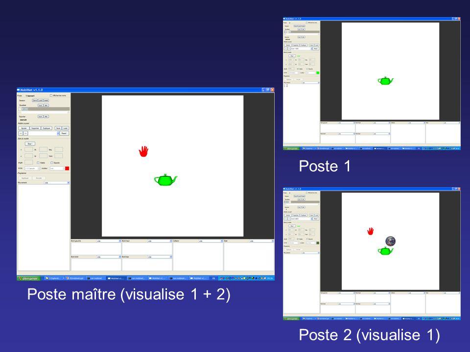 Poste 2 (visualise 1) Poste 1 Poste maître (visualise 1 + 2)