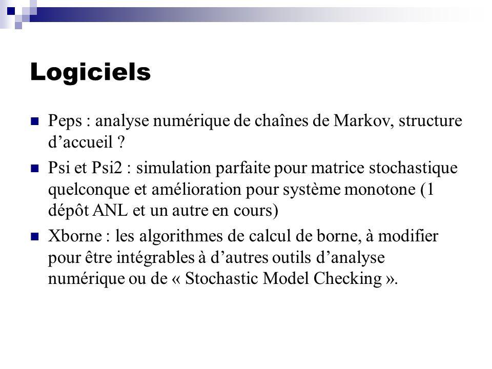 Logiciels Peps : analyse numérique de chaînes de Markov, structure daccueil .