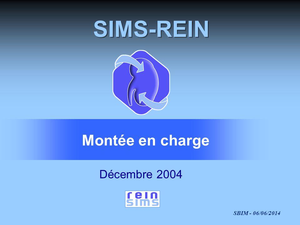 SBIM - 06/06/2014 SIMS-REIN Décembre 2004 Montée en charge