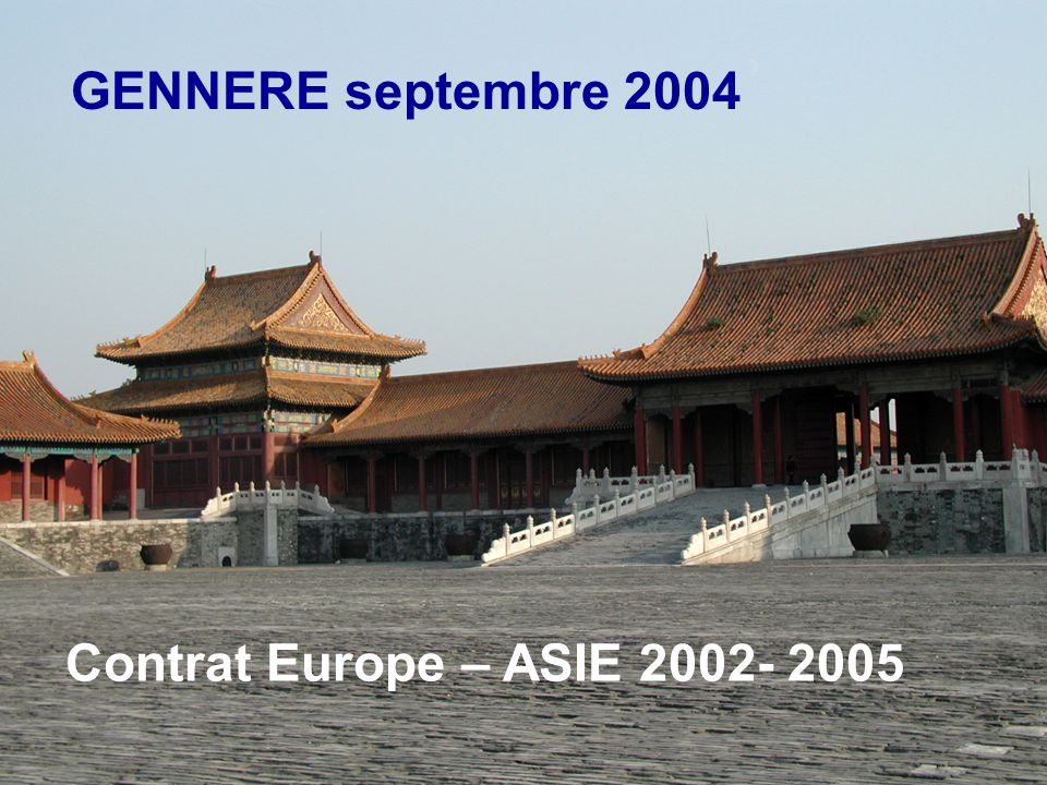 SBIM - 06/06/2014 GENNERE septembre 2004 Contrat Europe – ASIE 2002- 2005