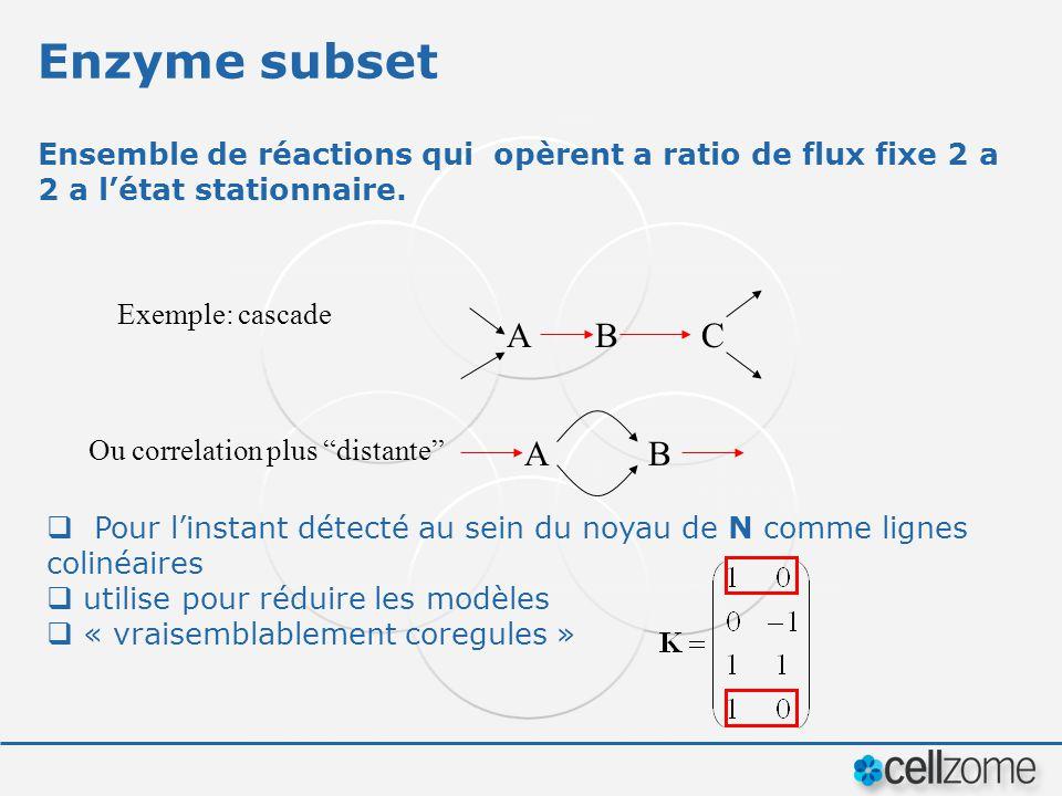Enzyme subset Pour linstant détecté au sein du noyau de N comme lignes colinéaires utilise pour réduire les modèles « vraisemblablement coregules » En