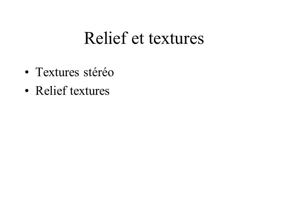 Relief et textures Textures stéréo Relief textures