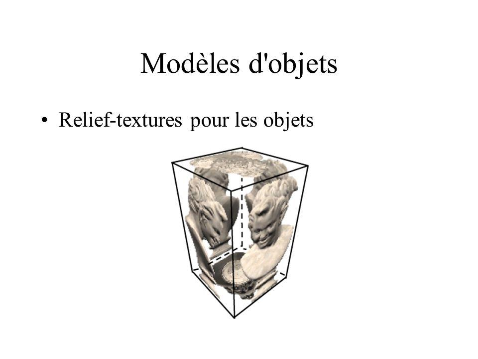 Modèles d'objets Relief-textures pour les objets