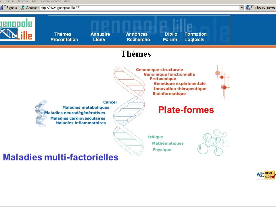 43 http://ribosome.genopole-lille.fr/fr/clones/select_clone_form.html Sélection de clones Publication : Lambert JC, Testa T, Cognat V, Soula J, Hot D, Lemoine Y, Gaypay G, Amouyel P., Interest and limitation of public databases for microarray design: a critical approach of gene predictions The Pharmacogenomics Journal, in press.