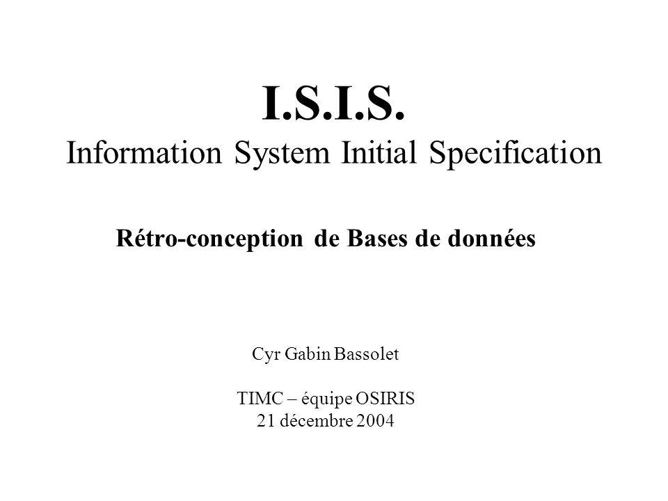 La rétro-conception de BDs But : –obtenir la description du contenu dune base de données existante (reverse engineering) –avoir une vue synthétique du contenu dune BD (après une longue période dexploitation/modification du schéma de la base) –Produire une documentation associée au schéma de la base de données (XML, HTLM, PDF, …)