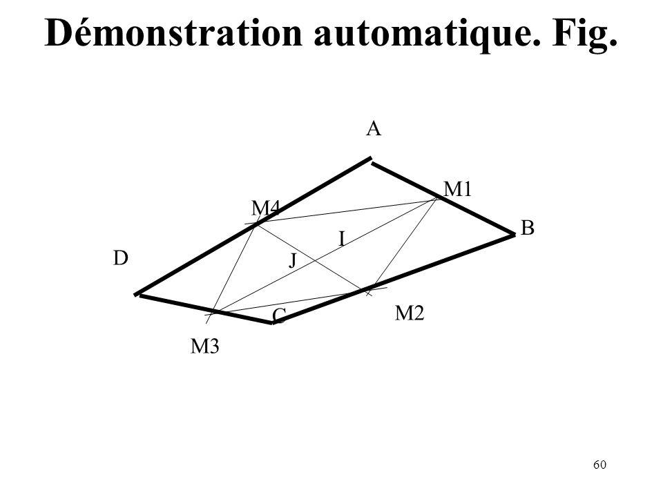 60 A B C D M4 M2 M1 M3 I J Démonstration automatique. Fig.