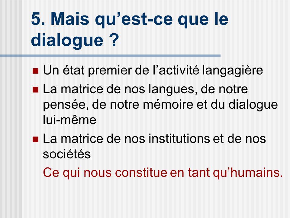 5.Mais quest-ce que le dialogue .