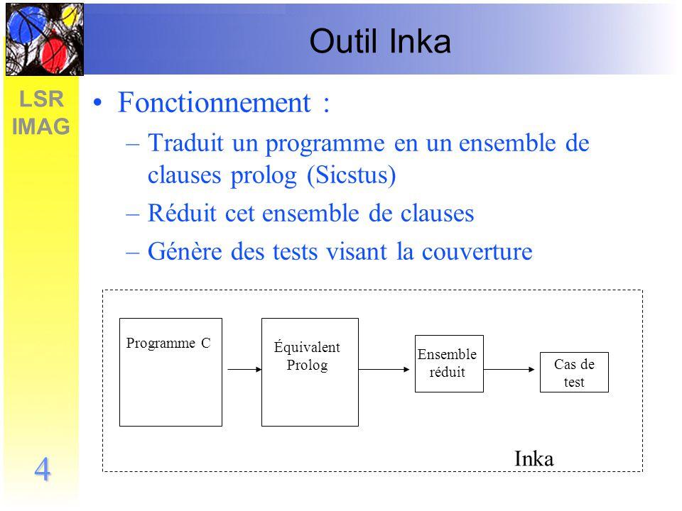 LSR IMAG 5 Test unitaire Test unitaire : on remplace les appels de fonctions par des bouchons int f(int x) {...