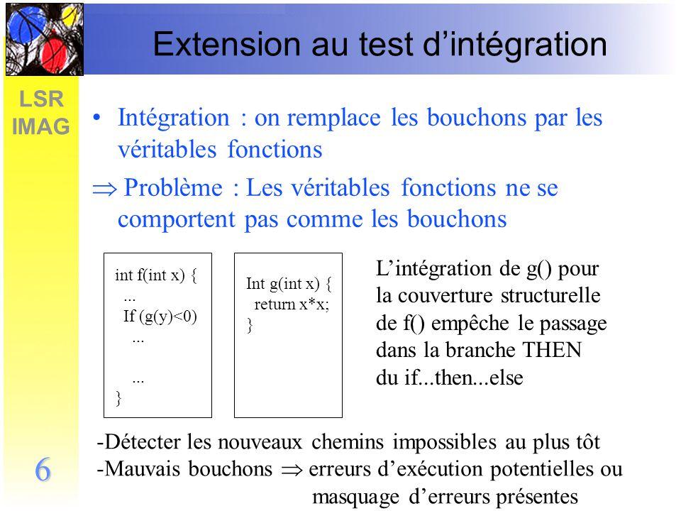 LSR IMAG 7 Étude bibliographique Rares publications Essentiellement des méthodologies dintégration portant sur lordre dintégration des fonctions dans le logiciel