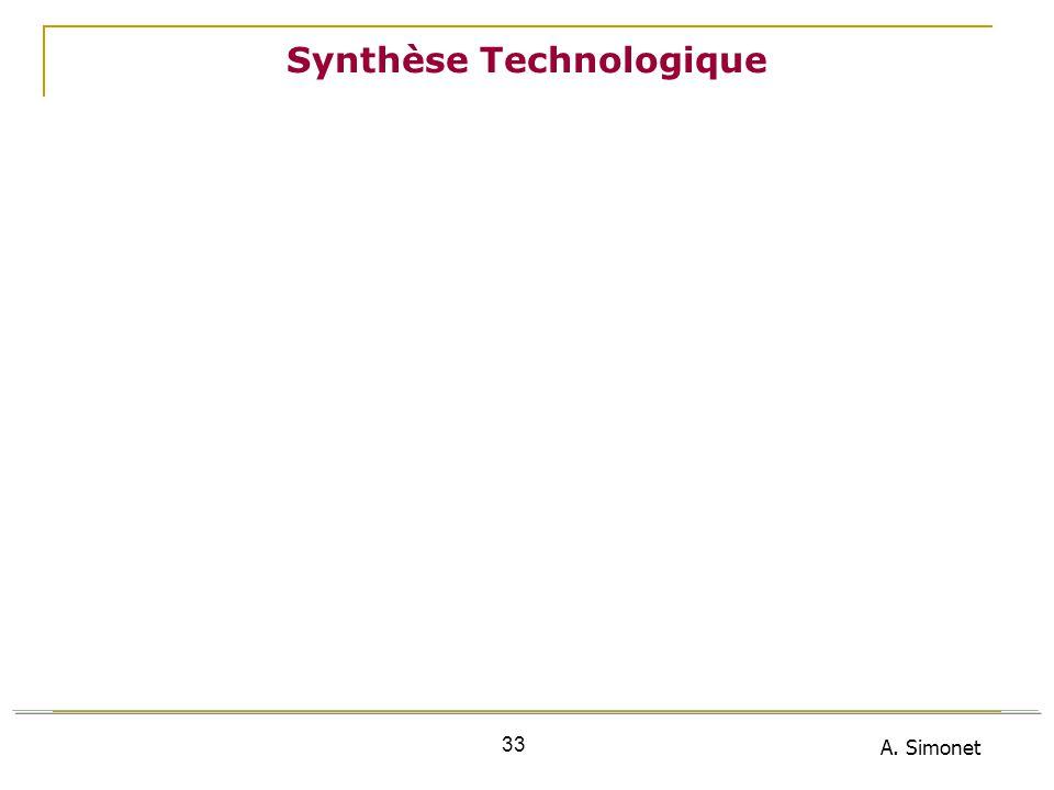 A. Simonet 33 Synthèse Technologique