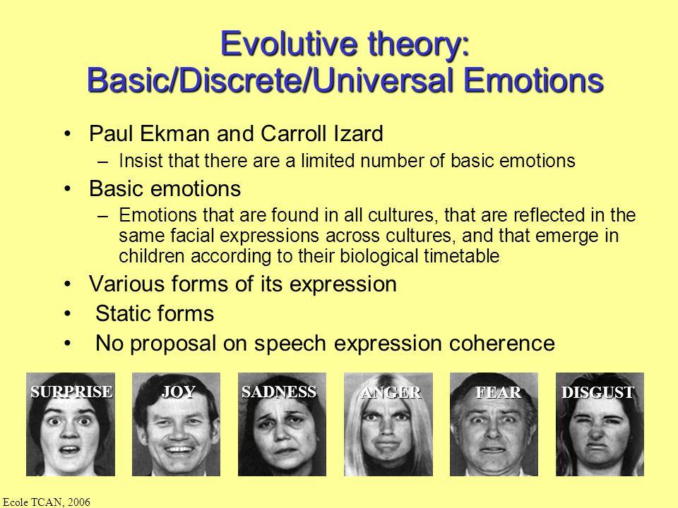 Ecole TCAN, 2006 Sémantique : Comment annoter les émotions ressenties ? exprimées ? par un humain