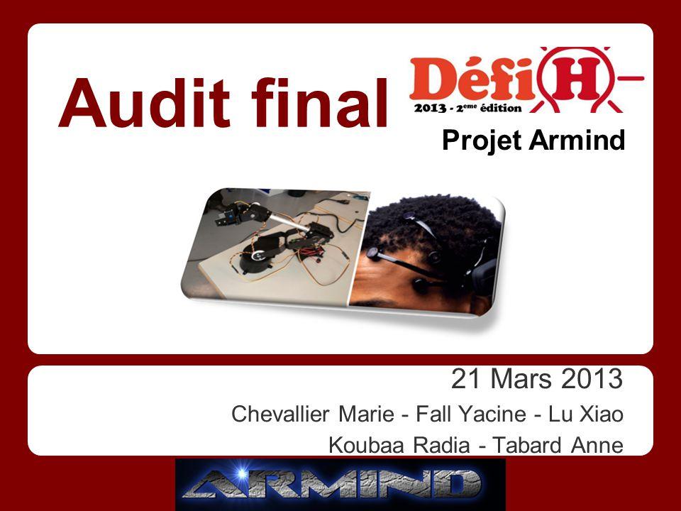 21 Mars 2013 Chevallier Marie - Fall Yacine - Lu Xiao Koubaa Radia - Tabard Anne Audit final Projet Armind