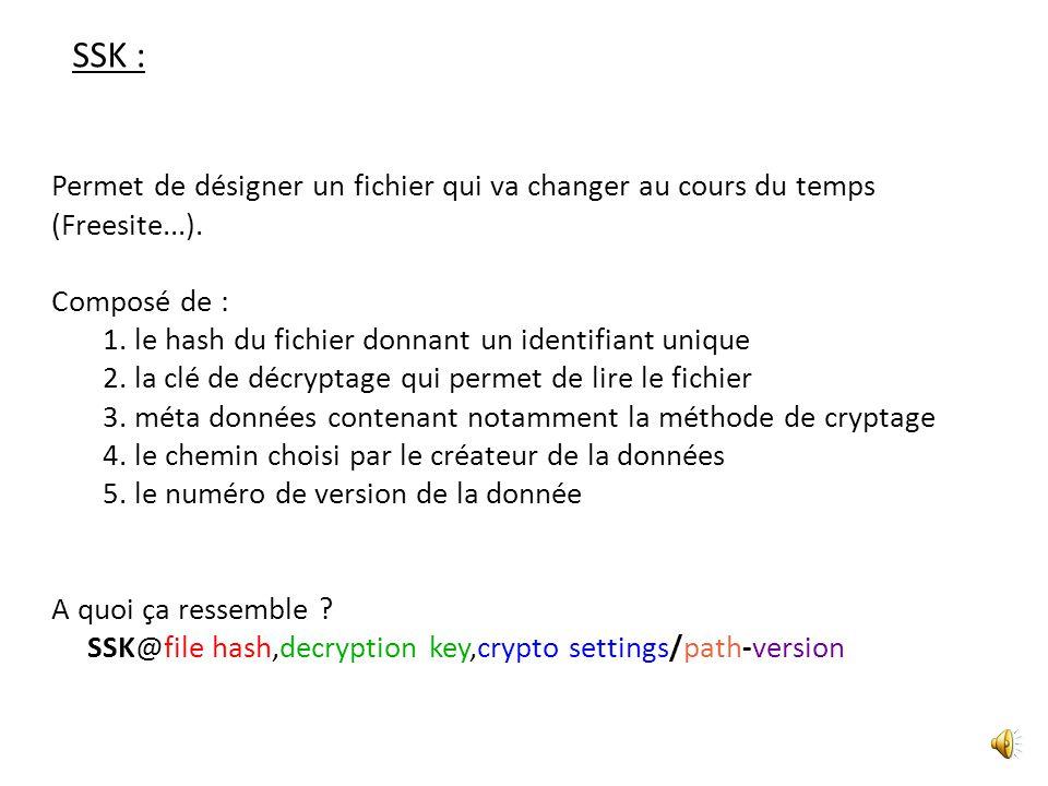 CHK : Permet de désigner un fichier particulier sur le réseau (mp3, pdf...).