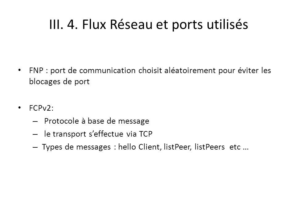 III. 4. Flux Réseau et ports utilisés