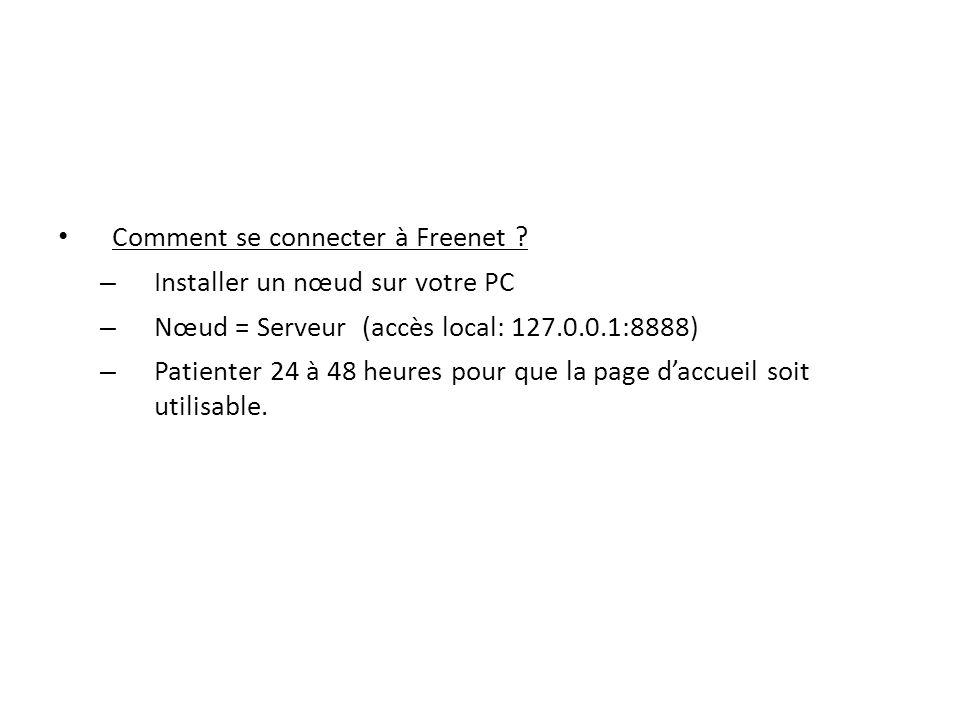 Comment se connecter à Freenet .