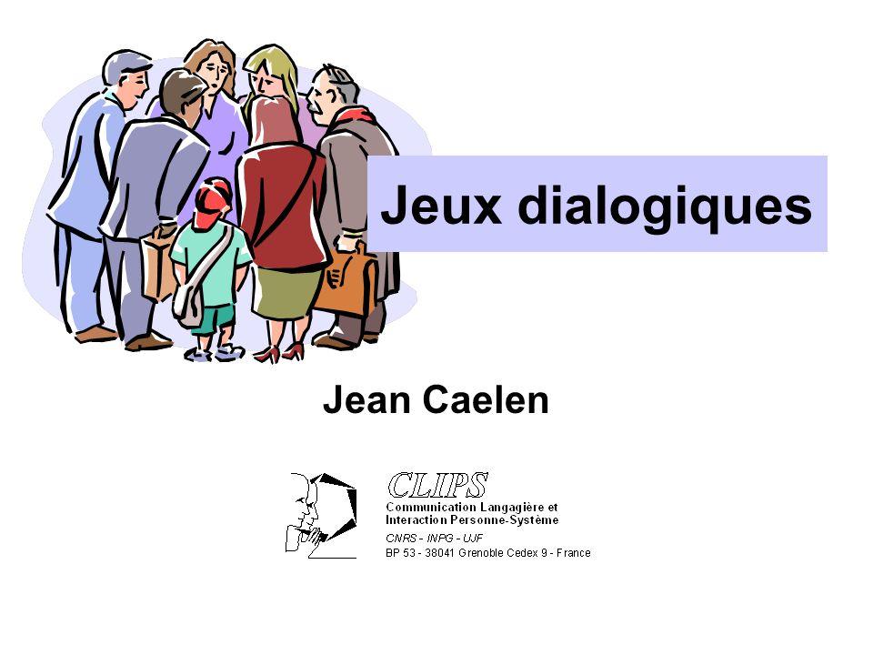 Le contrôle du dialogue Les rôles du contrôleur de dialogue sont : 1.