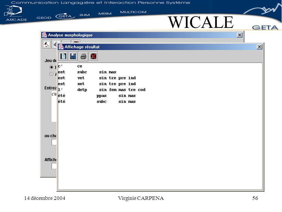 14 décembre 2004Virginie CARPENA56 WICALE