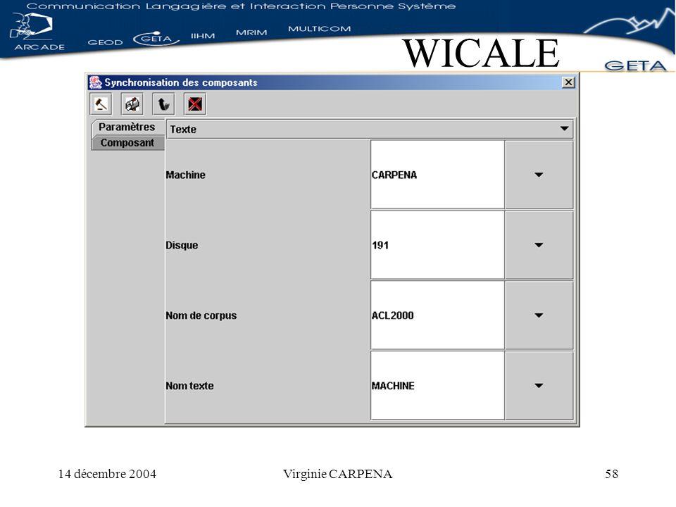 14 décembre 2004Virginie CARPENA58 WICALE