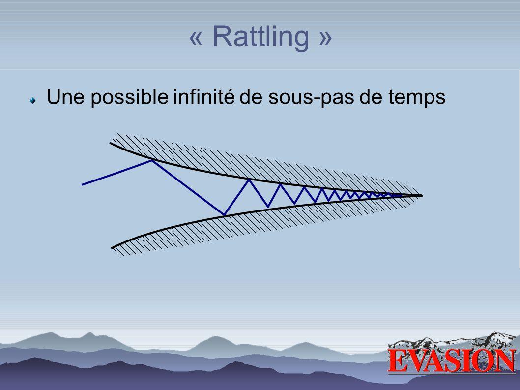 « Rattling » Une possible infinité de sous-pas de temps