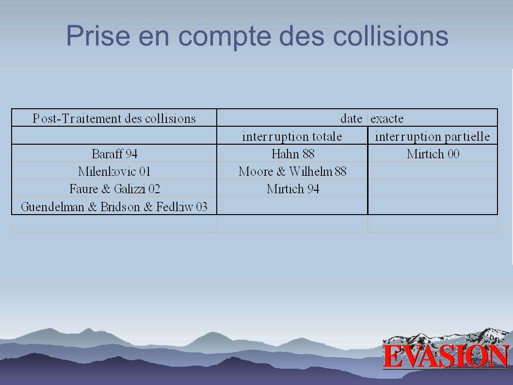 Prise en compte des collisions