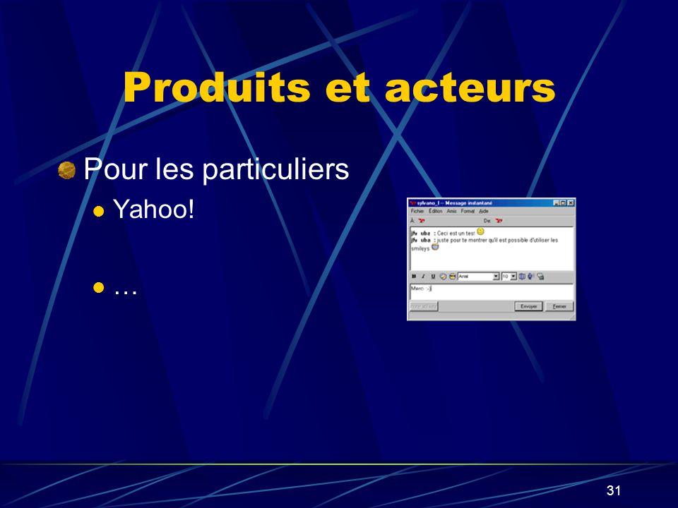 31 Produits et acteurs Pour les particuliers Yahoo! …