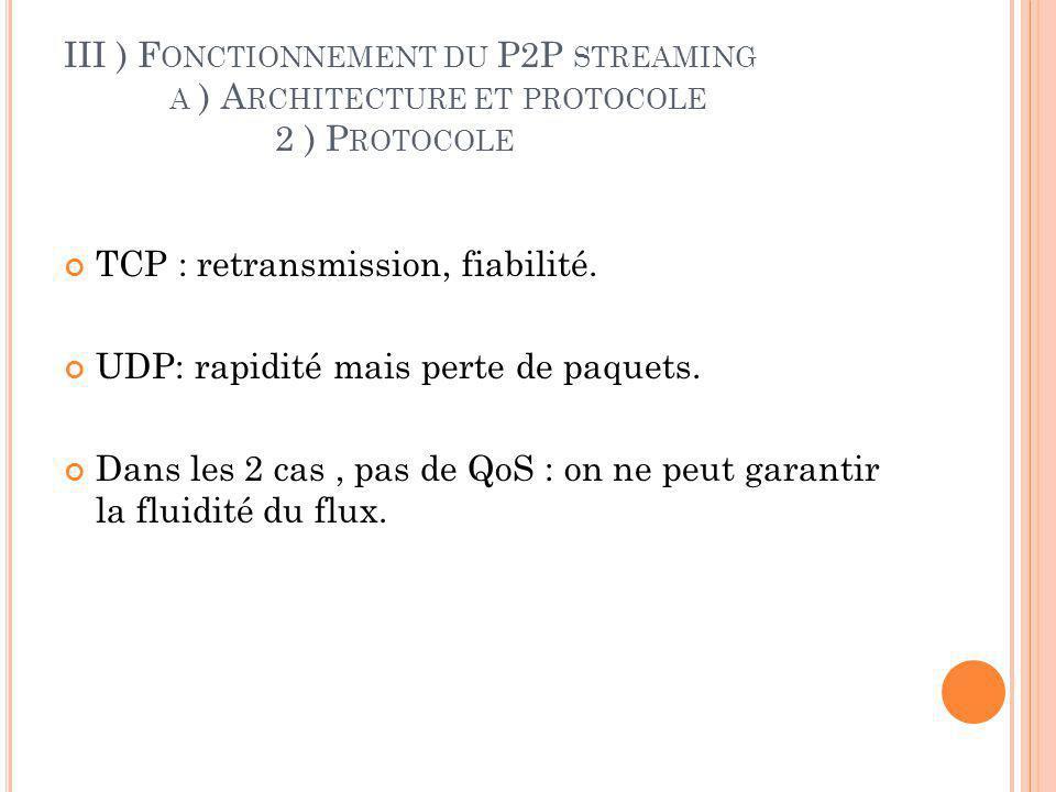 III ) F ONCTIONNEMENT DU P2P STREAMING B ) F ONCTIONNEMENT GÉNÉRAL 1) A RCHITECTURE CENTRALISÉ À SERVEURS MULTIPLES
