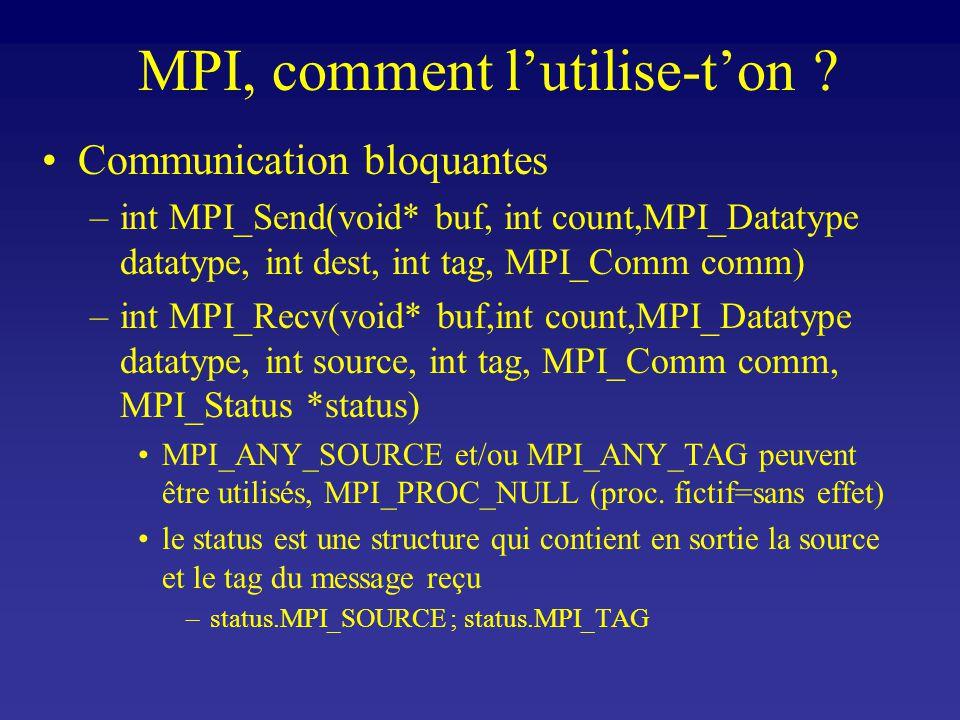 MPI, comment lutilise-ton .