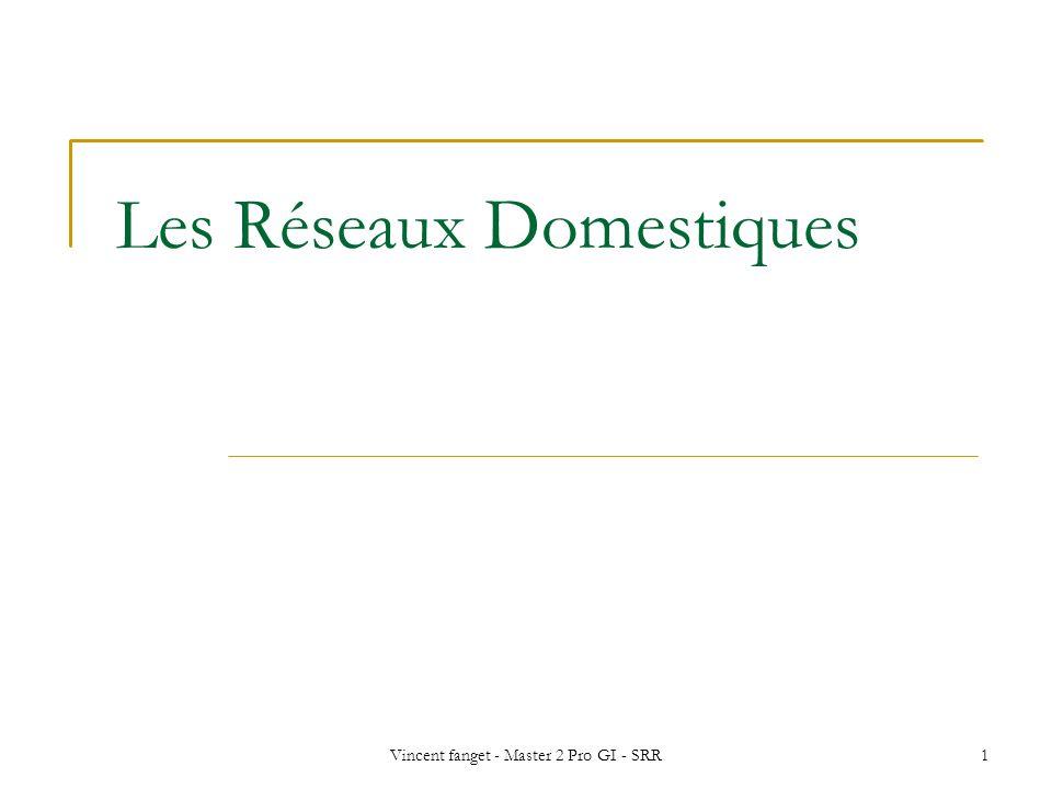Vincent fanget - Master 2 Pro GI - SRR1 Les Réseaux Domestiques